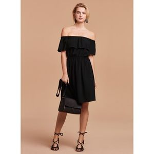 Aritzia Wilfred Hosta Black Off The Shoulder Dress